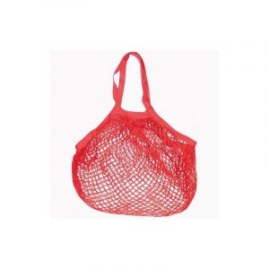SIDEBAG FILET COTON ROUGE 40x40 CM