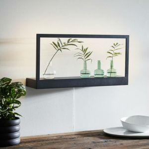 Markslojd Applique murale PABLO-Applique LED étagère lumineuse Métal L60cm Noir