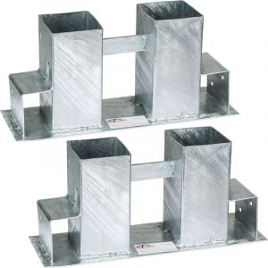 TecTake Range Bûche, Serre Bûche Ajustable, 2 Supports pour Empiler du Bois de Chauffage, de Cheminée en Acier 34 cm x 10 cm x 15 cm