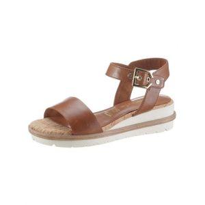 Tamaris Femme Sandales, Dame Sandale à lanières,Chaussure d'été,Sandale,Sandale d'été,Confortable,Plate,Nut,36 EU / 3.5 UK