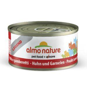 Almo Nature Chat Legend Poulet et crevettes 6 x 70 grs