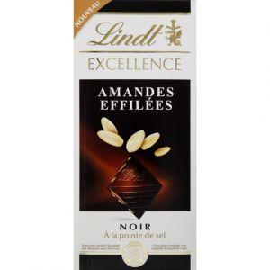 Lindt Chocolat noir amandes effilées à la pointe de sel - La tablette de 100g