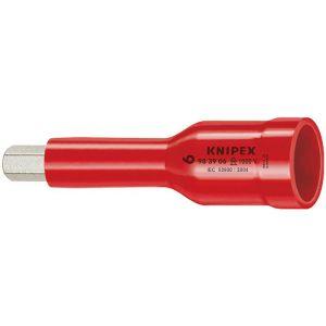 """Knipex Douilles pour vis 6 pans creux avec carré femelle 3/8"""""""" 75 mm - 98 39 06"""