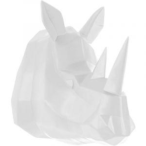 Present time Tête de rhinocéros blanche ORIGAMI