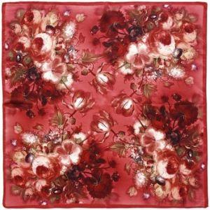 Allée du foulard Carré de soie Piccolo Neolia Pourpre