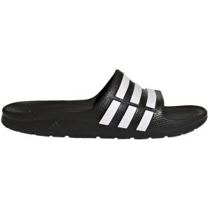 Adidas Originals Duramo Slide Noire Et Blanche Sandales Enfant