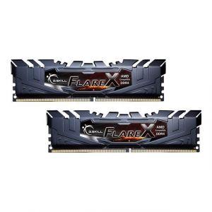 G.Skill F4-2400C16D-16GFX - Flare X Series schwarz, DDR4-2400 fur Ryzen, CL 16 - 16