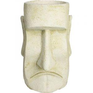 Deco granit Pot en pierre reconstituée tête d'inca