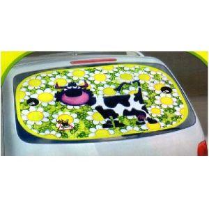 1 Pare-Soleil Arriere - Animals on Board - Vache - 100x50cm
