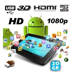 """Yonis Y-ttc7hd3d20go - Tablette tactile 7"""" 4 Go interne + Micro SD 16 Go sous Android 4.0"""