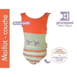 Piwapee Maillot de bain couche 1 pièce (12-24 mois / 11-14 kg)