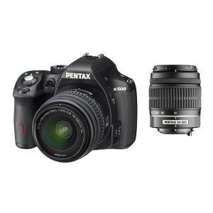 Pentax K-500 (avec 2 objectifs 18-55mm et 50-200mm)