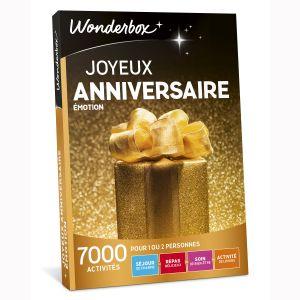 Wonderbox Joyeux anniversaire émotion - Coffret cadeau