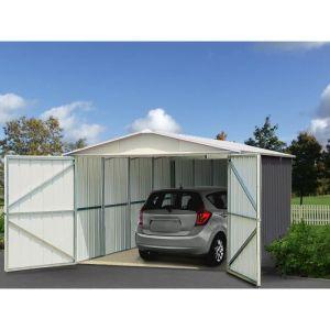Image de Yardmaster Garage en métal 19,07m² Anthracite et alu En métal Dimensions 19,07m² Coloris anthracite et alu