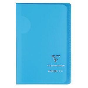 Clairefontaine 921601C - Carnet Kover Book 90x140, 96p./48 feuilles 90 g/m² piquées, couv. transparentes assorties (6), quadrillé 5x5