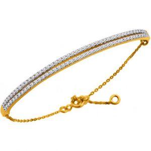 Altesse bijoux 70260840108 - Bracelet Chaîne Doré Cristaux Femme