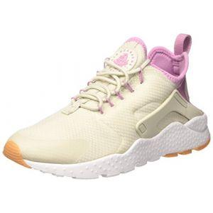 Nike WMNS Air Huarache Run Ultra, Les Formateurs Femme, Beige (Light Bone/Orchid/Gum Yellow/White), 40 EU