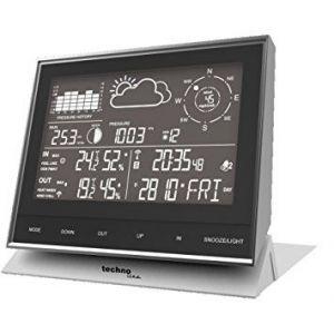 Technoline WS 1700 - Centre Météo Station météo Compact - noir/argent - 153 x 53 x 138 mm