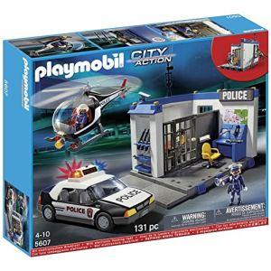 Playmobil 5607 City Action - Poste de police avec voiture et hélicoptère