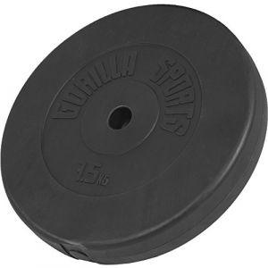 Gorilla Sports Poids disque en plastique de 7,5 kg