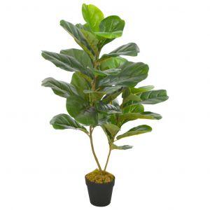 VidaXL Plante artificielle avec pot Feuilles de figuier Vert 90 cm