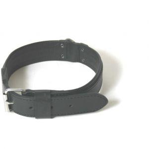 Martin Sellier Collier pour chien cuir noir Super Confort Nu (70cm x 40mm)