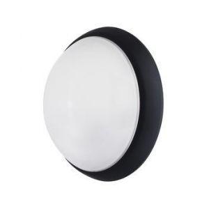 Ebénoid Hublot fluo 16W Ø 300mm noir polycarbonate avec lampes 4000K 2D GR10-q et ballast elec CL2 IK10 IP44 OPTION 078866