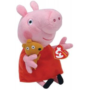 Ty Peluche Peppa Pig : Peppa and Teddy 15 cm