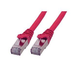 MCL Samar FCC6ABMSHF-20M/R - Cordon de brassage RJ 45 CAT 6 A S/FTP LSZH 20m rouge