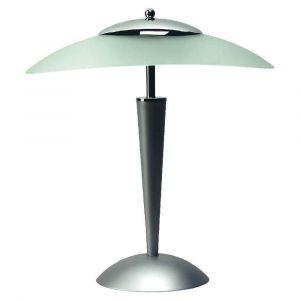 Elba Lampe à Leds Cristal tactile argenté - vasque verre dépoli - 42 x 21 cm