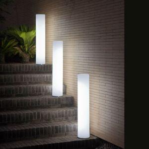 New Garden Lampe à poser extérieur FITY-Lampadaire d'extérieur / Colonne lumineuse LED RGB rechargeable H102cm Blanc