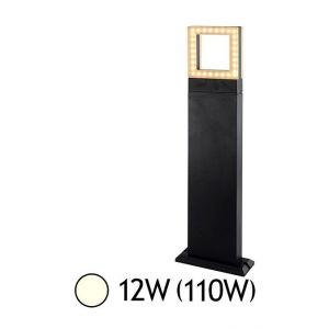 Vision-El Potelet diffuseur carré LED 12W (110W) IP54 Blanc jour 4000°K Anthracite