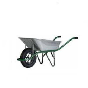 Haemmerlin 9080016 - Brouette de chantier Aktiv Premium galvanisée roue gonflable 90 L