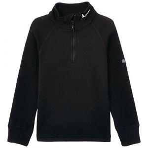 Image de Odlo Shirt ML WARM 1/2 zip enfant t-shirt manches longues enfant 1/2 zip Enfant black FR: M (Taille Fabricant: 140)