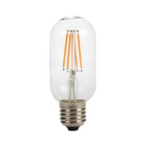 Perel Ampoule A Filament Led - Style Rétro - T45 - 4 W - E27 - Blanc Chaud Intense -