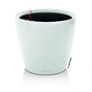 Lechuza Pot à réserve d'eau Classico Blanc Ø.21 x H.20 cm