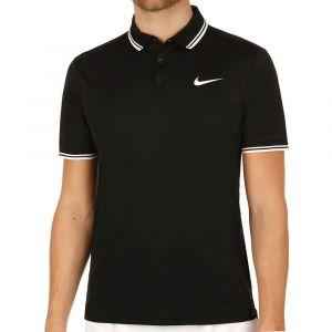 Nike M nkct Dry Polo Solid PQ T-Shirt à Manches Courtes de Tennis, Homme S Noir (Black/White)