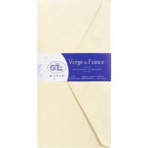 G. Lalo 25 enveloppes Vergé 11 x 22 cm