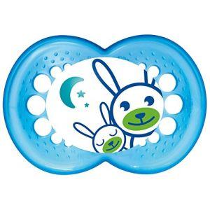 Mam Sucette Nuit en silicone avec boîte de stérilisation (6 mois +)