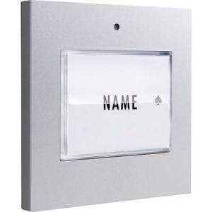 M-e Bouton de sonnette 1 foyer modern-electronics 41048 argent 8-24 V AC/DC/1 A