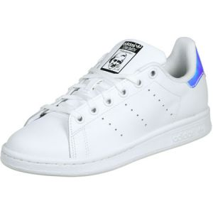 Adidas Stan Smith J, Chaussures de Fitness Mixte Enfant, Blanc (Ftwbla/Plasld 000), 36 EU