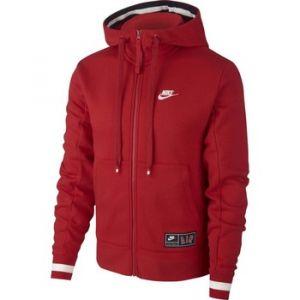 Nike Sweatà capuche en tissu Fleece entièrement zippé Air Homme - Rouge - Taille XS - Male