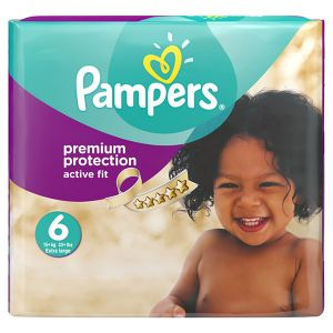 Pampers Active Fit taille 6 Extra large 15+ kg - Pack mensuel 120 couches