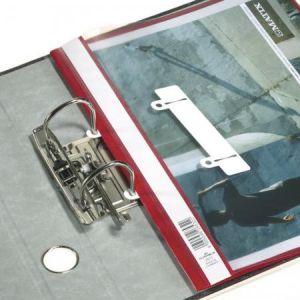 Durable 2996-02 - Sachet de 50 languettes coulissantes, pour classeur à levier, blanc