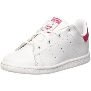 Adidas Stan Smith I, Chaussures de Fitness Mixte Enfant, Blanc (FTWR White/FTWR White/Bold Pink Bb2999), 27 EU