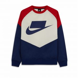 Nike Sportswear Woven Crewneck Blue Void/ University Red/ Sail/ Blue Void