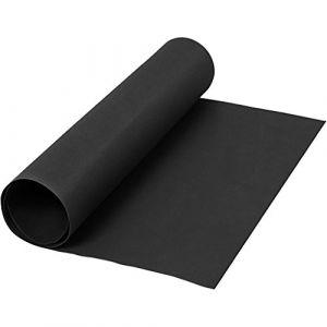 Creotime Papier simili cuir, largeur 50 cm, épaisseur 0,55 mm, noir, 1 m