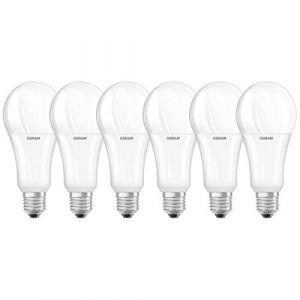 Osram LED STAR Ampoule LED, Forme Classique, Culot E27, 20W Equivalent 150W, 220-240V, dépolie, Blanc Chaud 2700K, Lot de 6 pièces