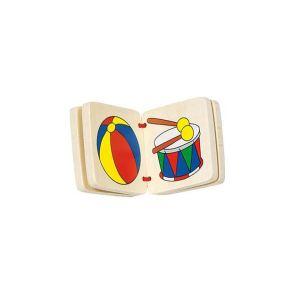 Goki CA 050 - Livre d'images en bois (3 modèles assortis)