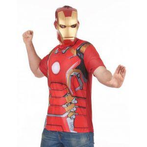 T-Shirt et masque adulte Iron Man movie 2